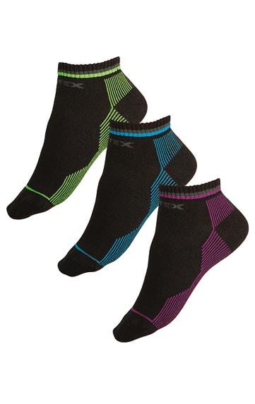 Litex Sportovní ponožky polovysoké 99637 - reflexní zelená - 28-29