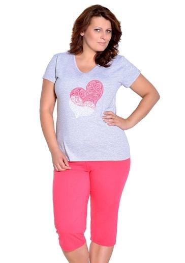 Taro Dámské pyžamo nadměrné velikosti Sylwia - 300/ růžová světlá - 2XL