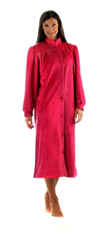 Vestis Župan Shanti s knoflíky 5447 - červená - XL