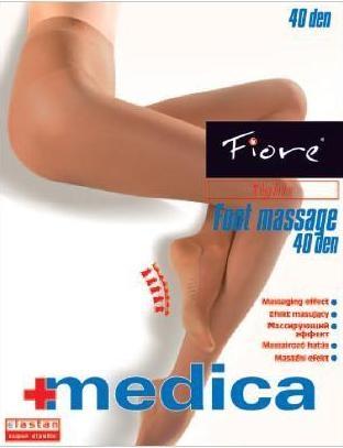 Fiore Zdravotní punčochy FOOT MASSAGE 40 den - tělová - vel.2