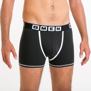 Bellinda Pánské boxerky BMEN - černá/bílá - M