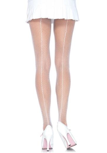 LEG AVENUE Síťované punčochy 9015 - bílá - uni