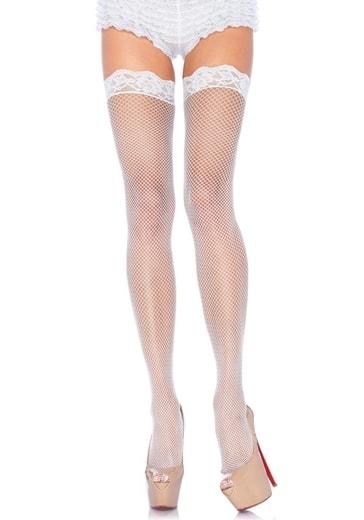LEG AVENUE Síťované punčochy 9027 - bílá - uni