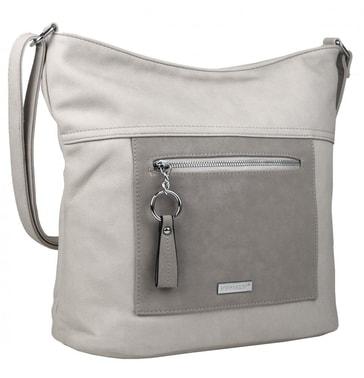 4e04dc1029 Velká světle šedá crossbody dámská kabelka s čelní kapsou NH8047 ...